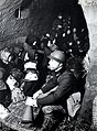 People who were escaping in the air-raid shelter in Japan.jpg