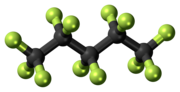 Ball-and-stick model of the perflenapent molecule