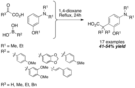 PBM coupling with trisubstituted aromatic amine
