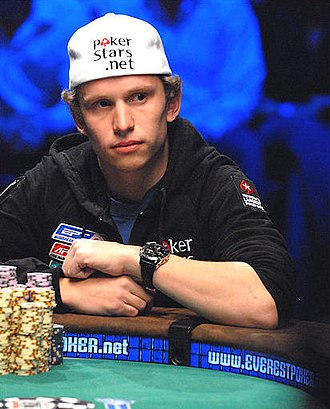 Peter Eastgate - Eastgate playing heads-up at the 2008 World Series of Poker Main Event.