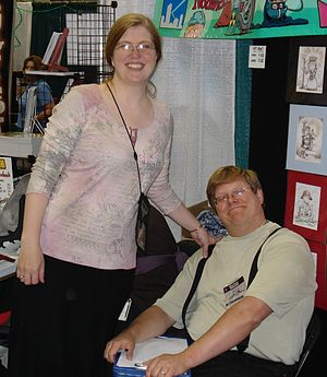 67th World Science Fiction Convention - Hugo Winners Kaja and Phil Foglio at Gen Con Indy 2007.