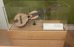 Puerto Rican cuatro - An ancient Cuatro (c. 1900 - 1915) on exhibit in the Musical Instrument Museum of Phoenix