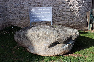 Saint-Quentin-Fallavier - Stone with cupules of Saint-Quentin-Fallavier