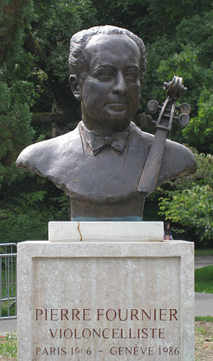 Pierre Fournier - Bust of Fournier in Geneva, Switzerland.