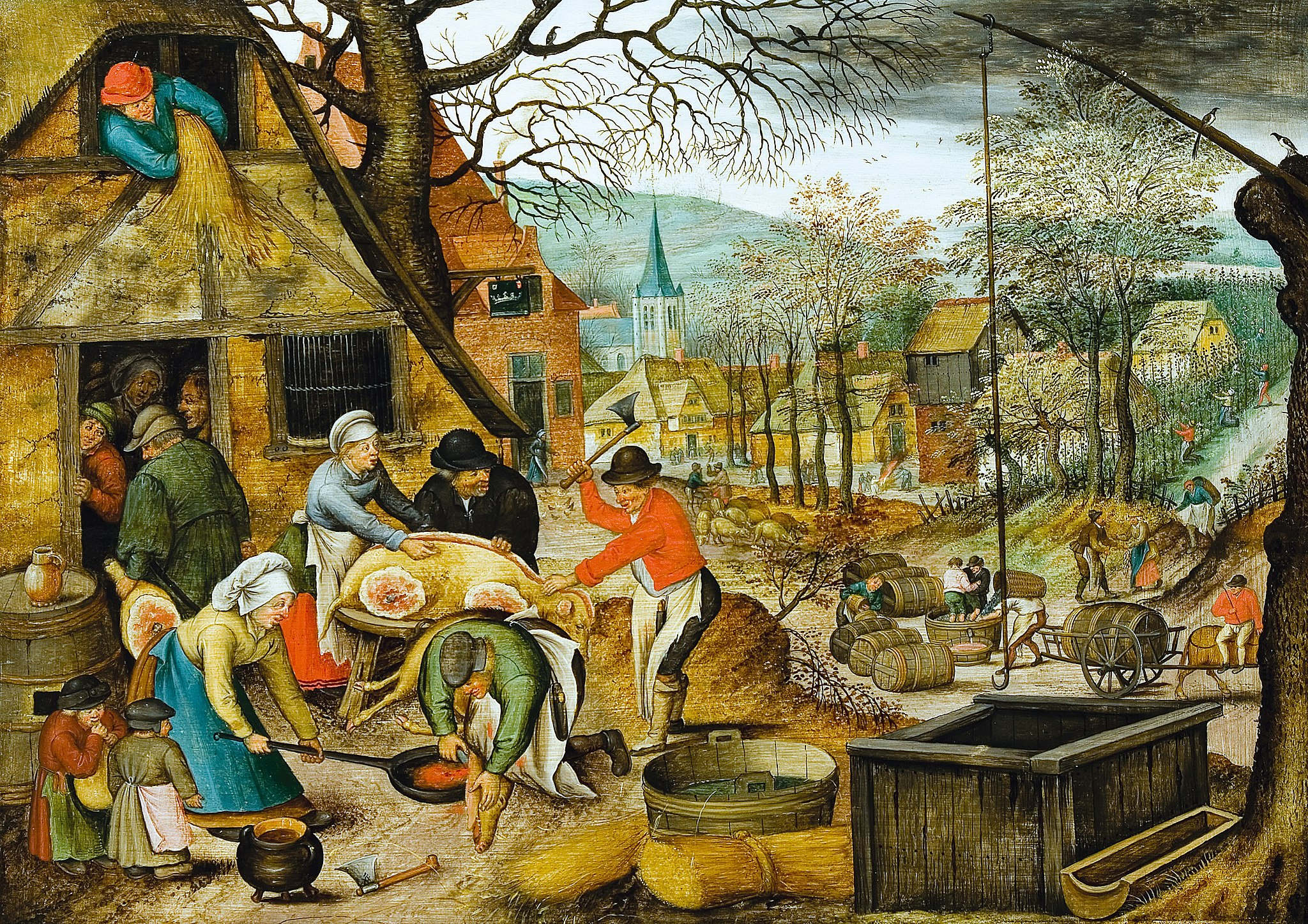 Pieter Brueghel (II) - The four seasons, autumn (Bukarest)
