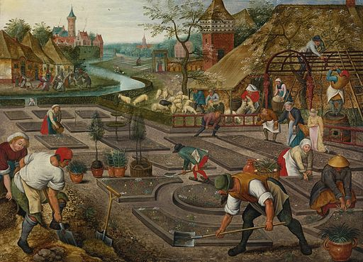Pieter Brueghel the Younger, Spring, oil on panel, Sotheby's