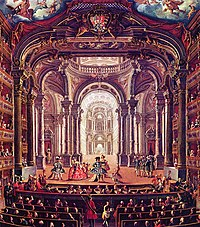 18th-century painting of the Royal Theatre of Turin