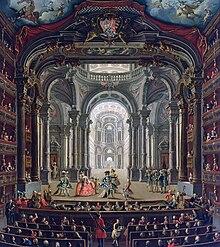 Giovanni Michele Graneri (Torino, 1708-1762), Interno del Teatro Regio. Olio su tela, 1752 circa. Torino, Palazzo Madama - Museo Civico d'Arte Antica