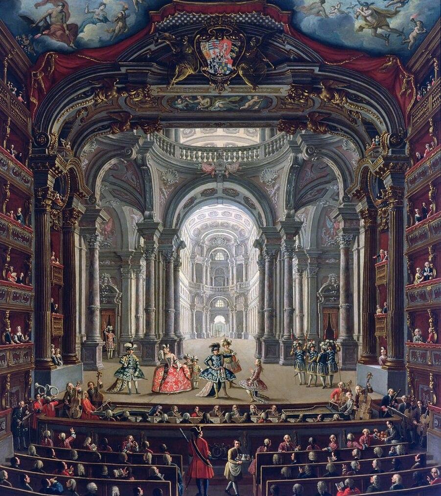 Pietro Domenico Oliviero - The Royal Theater in Turin