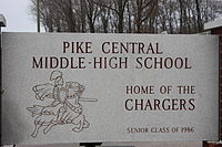 Pike Central Middle High School 2, Petersburg, Indiana.JPG