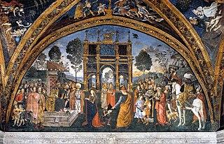 Disputace svaté Kateřiny Alexandrijské před cisařem Maxentiem