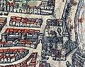Plan de Paris vers 1530 Braun Paris poterne ave Maria2.jpg
