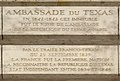 Plaque Ambassade du Texas, 1 place Vendôme, Paris 1.jpg