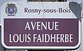 Plaque Avenue Louis Faidherbe - Rosny-sous-Bois (FR93) - 2021-04-15 - 1.jpg