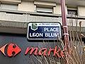 Plaque Place Léon Blum - Le Pré-Saint-Gervais (FR93) - 2021-04-28 - 2.jpg