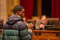 """Playing Martin Luther King, Jr.'s """"I Have a Dream"""" speech at Minneapolis City Council budget hearing (24248407536).jpg"""