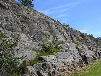 Plucking (glaciation) - Glacially-plucked granitic bedrock near Mariehamn, Åland Islands.