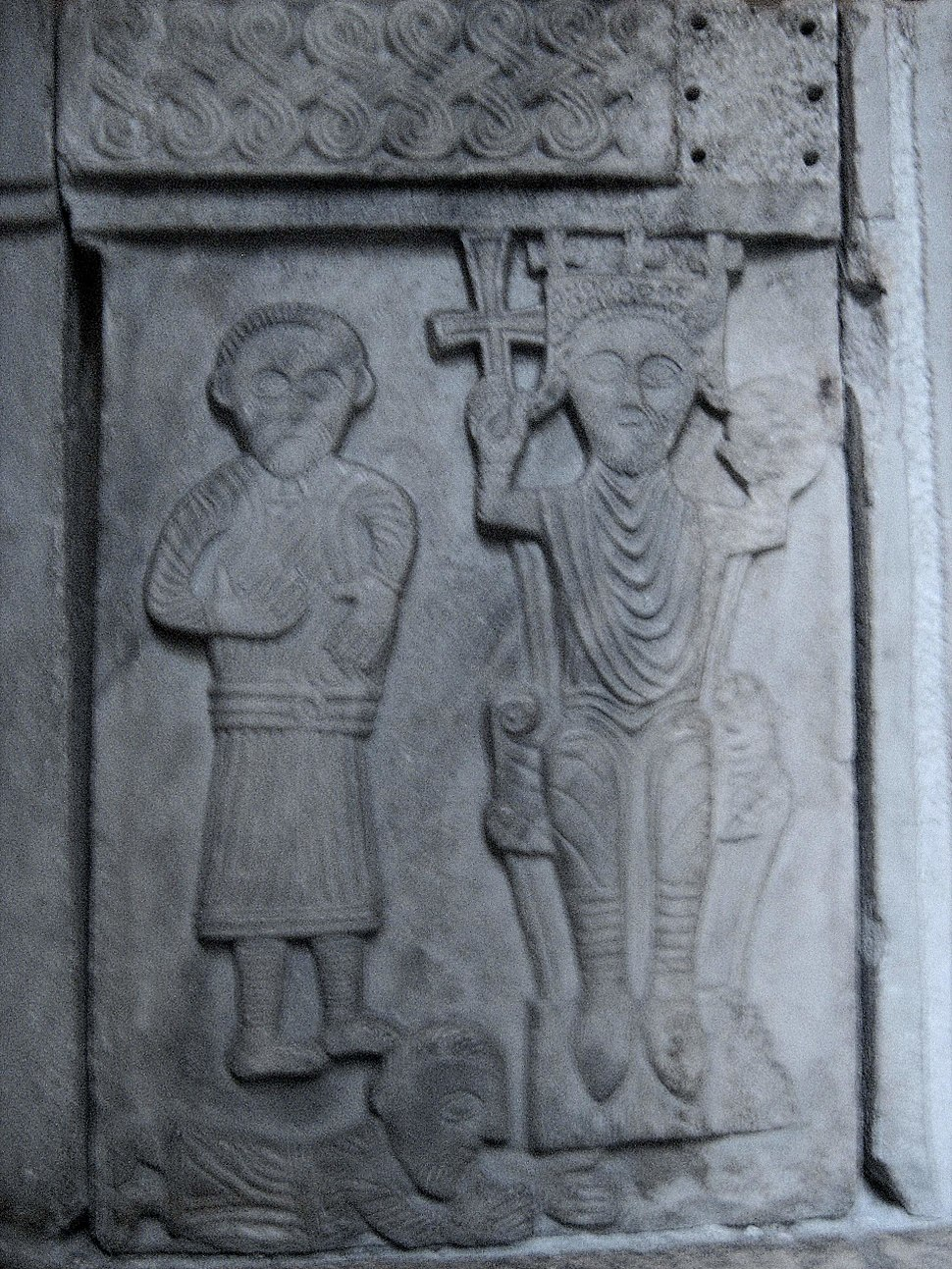Pluteus with the figure of a Croatian king