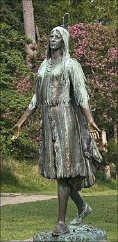 Statua di Pocahontas a Jamestown - 1922