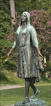 A Pocahontas statue was erected in Jamestown, Virginia in 1922