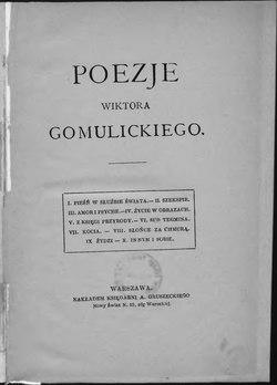 Poezje Wiktora Gomulickiegocałość Wikiźródła Wolna
