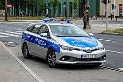 Policja - Police in Warsaw, Toyota Auris (2019).jpg