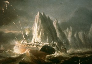 HMS Pomone (1805) - Pomone wrecking, from the Hampshire and Wight Trust for Maritime Archaeology