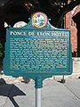 Ponce de Leon Hotel historical marker 001.jpg