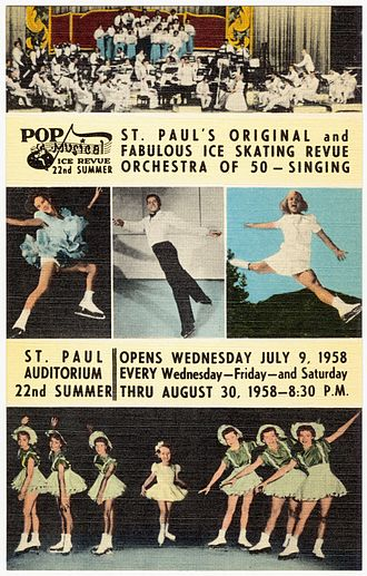 Ice show - Postcard from Pop Musical Ice Revue, 1958
