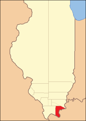 Pope County, Illinois - Image: Pope County Illinois 1816