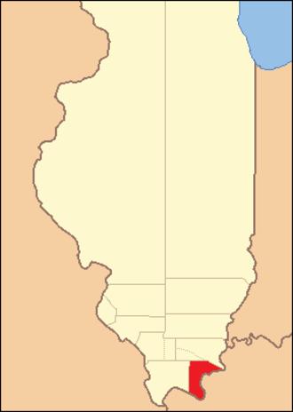 Pope County, Illinois - Image: Pope County Illinois 1816
