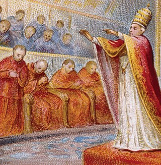 Papal supremacy Doctrine of the Catholic Church that the Pope, by reason of his office as Vicar of Christ and as pastor of the entire Church, has full, supreme, and universal power over the whole Church