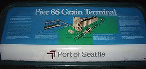 Port of Seattle - Grain Terminal Sign