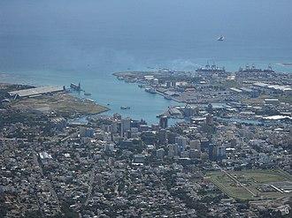 Le Pouce - Image: Port Louis from Le Pouce