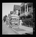 Portland Oregon woodpiles on street in August 1939.jpg
