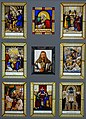Portrait of Albrecht Durer and scenes from his life, by Franz Joseph Sauterleute, 1829-1830, stained glass, paint - Germanisches Nationalmuseum - Nuremberg, Germany - DSC03507.jpg