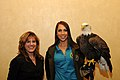 Posing for picture with Bald Eagle. (10595672904).jpg