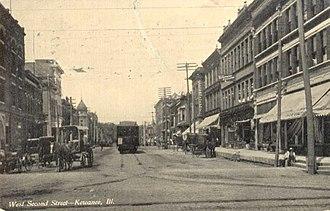 Kewanee, Illinois - West Second Street, 1908