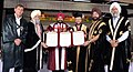 Prakash Javadekar honoring Honoris Causa degrees to the former Chief of Indian Army, General Bikram Singh (Retd.), at the 44th Annual Convocation ceremony of Guru Nanak Dev University, in Amritsar, Punjab.JPG