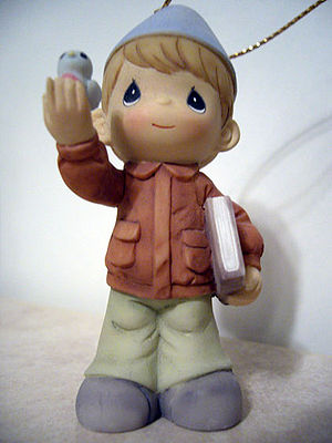 Precious Moments figurine of a boy in uniform ...