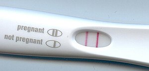 HCG pregnancy strip test - Pregnancy test result