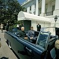 President John F. Kennedy and President Dr. Sarvepalli Radhakrishnan of India in Car Before Motorcade (7).jpg