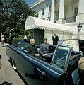 President John F. Kennedy and President Dr. Sarvepalli Radhakrishnan of India in Car Before Motorcade (7).jpg