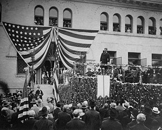 Claremont, California - President Theodore Roosevelt speaks at Pomona College, 1903