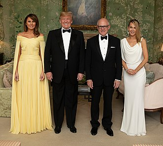 Woody Johnson - Woody Johnson and his wife Suzanne Ircha Johnson with President Donald Trump and first lady Melania Trump