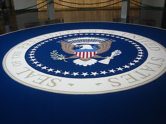 Presidential Museum and Leadership Library - Replica of President Harry Truman's Oval Office rug