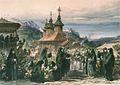 Preziosi - Vizita Domnitorului Carol I la Schitul Sf. Gheorghe din Buzău.jpg