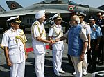 Prime Minister Narendra Modi meeting top Naval Commanders at the Combined Commanders' Conference 2015.JPG
