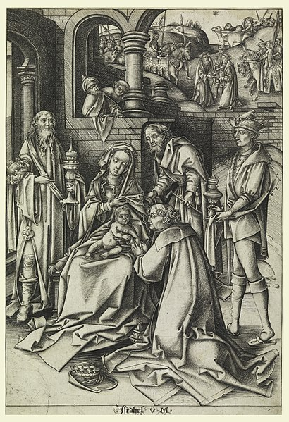 "File:Print, Adoration of Magi, plate 7 from series ""Life of the Virgin"", ca. 1490 (CH 18420587).jpg"