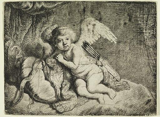 Print, Cupid Resting, ca. 1660 (CH 18612661)